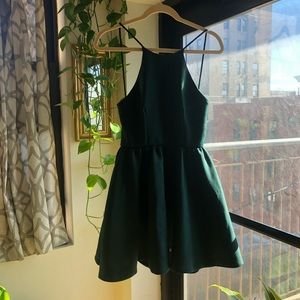 Unique Green Party Dress from Pixie Market